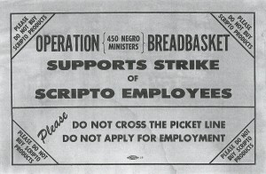 The Southern Christian Leadership Conference (SCLC) supported the 1964 strike at Scripto.