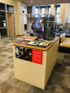 Photo of the exhibit at Oxford College Library