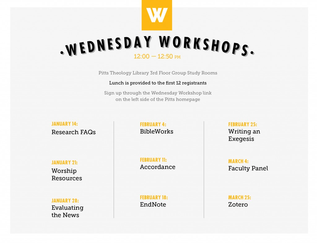 Wednesday Workshops for LCD_Spring