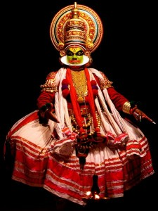 A Kathakali performer in the virtuous pachcha (green) role at Kochi, India, 2009/CC Licensed