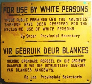 A sign from the Apartheid era/public domain