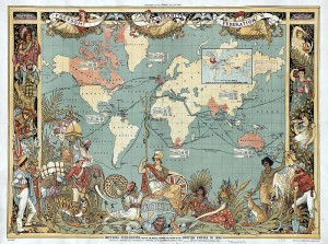 Walter Crane map of the British Empire in 1886/public domain