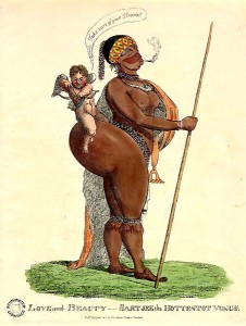 Drawing of Saartje Baartman/Public Domain