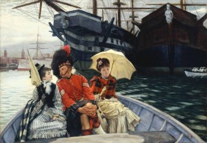 Portsmouth Dockyard painting by James Tissot, 1877/public domain