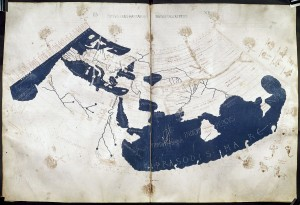 Ptolemy's 150 CE World Map (redrawn in the 15th century)/ public domain