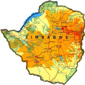 Map of Zimbabwe/public domain