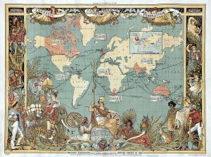 Walter Crane, Map of the British Empire, 1886/public domain