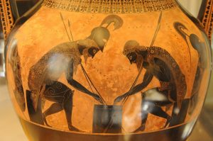 Achilles and Ajax playing a game.