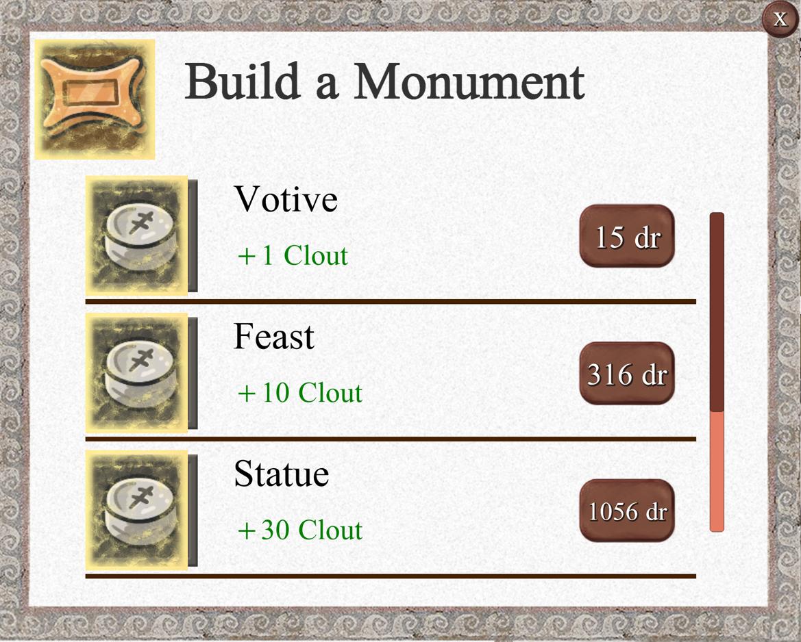 monument creation screen