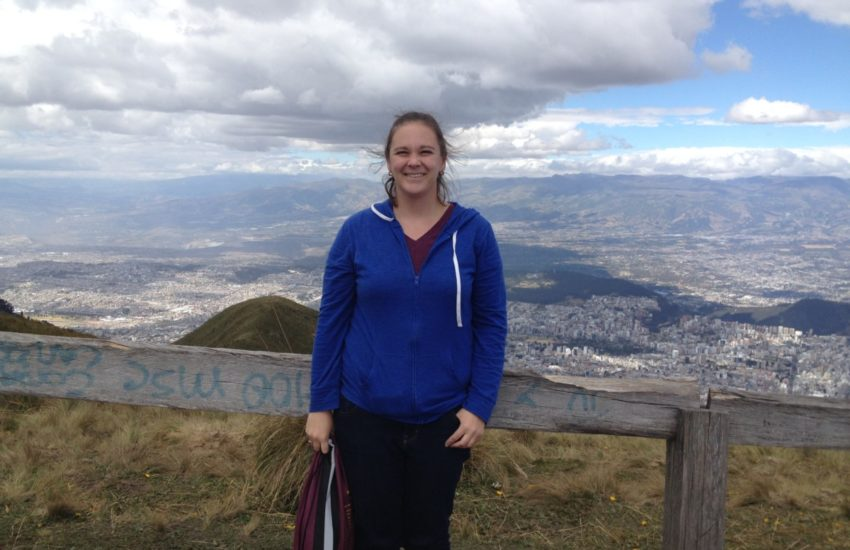 Visiting the TelefériQo for a scenic view of Quito, Ecuador, where Sarah spent a summer living with a host family and completing an internship.