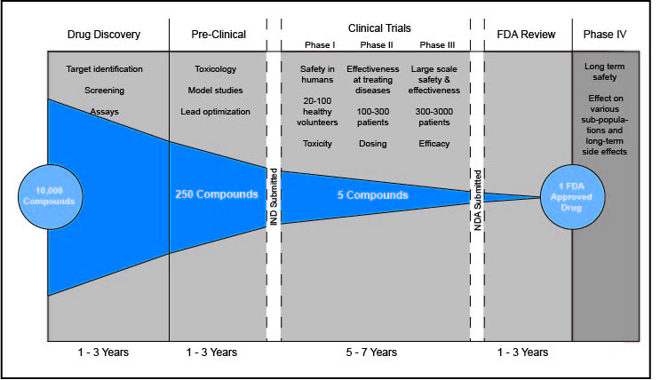 drug discovery timeline graphic