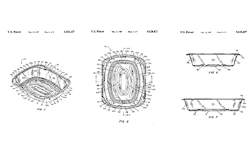 Disposable cooking pan patent graphic