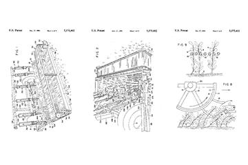 Cranberry harvesting method and apparatus patent graphic