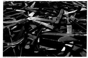 Machetes utilized in the Rwandan Genocide