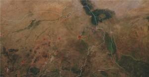 Map Illustrating Boko Haram conflict sites