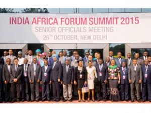 This is a photo of delegates at the 2015 Third India-Africa Summit. As a result of the debates above about Mbongeni Ngema's offensive song, AmaNydia, debate between the Indians and black South Africans were stimulated. This continued discourse helped aide in the planning of the First Africa-India Summit in 2008.| Photo Courtesy of India Times