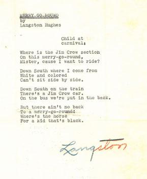 Merry-Go-Round, Langston Hughes