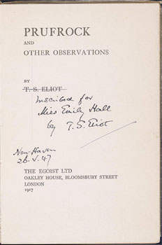 T.S. Eliot, Prufrock and Other Observations