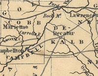 1845 Map of Georgia