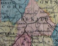 1854 Map of Georgia