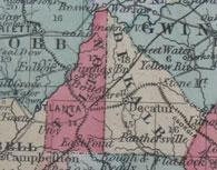 1855 Map of Georgia
