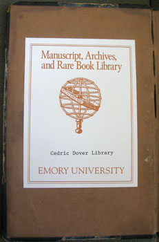 Cedric Dover MARBL Bookplate