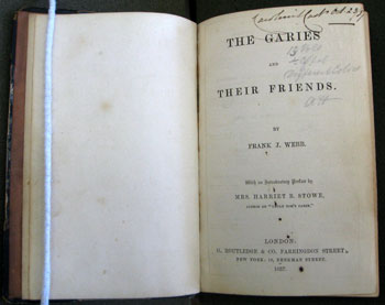 The Garies and Their Friends Title Page