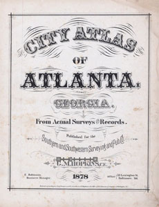 Atlas of Atlanta 1878 Title Page