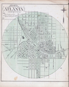 Old Map of Atlanta