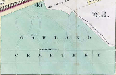 Oakland Cemetery Map