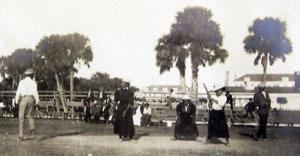 African American Women Playing Baseball