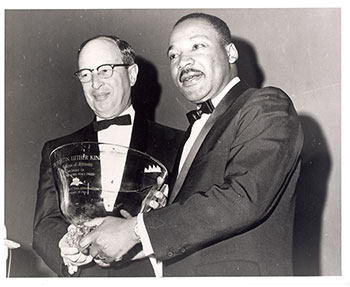 Rabbi Jacob Rothschild with MLK, Jr.
