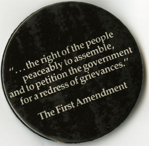 SCLC First Amendment Button