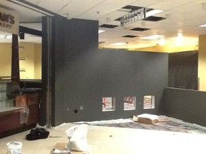 Work on the new Peet's Coffee Shop is underway.