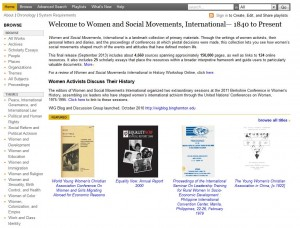 Women and Social Movements International Database
