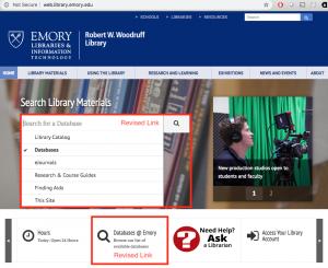 homepage-database-links