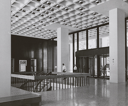 Woodruff Library Level 3 entrance in 1969.