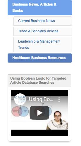 Screenshot of Business Guide