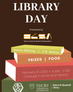 library day event poster
