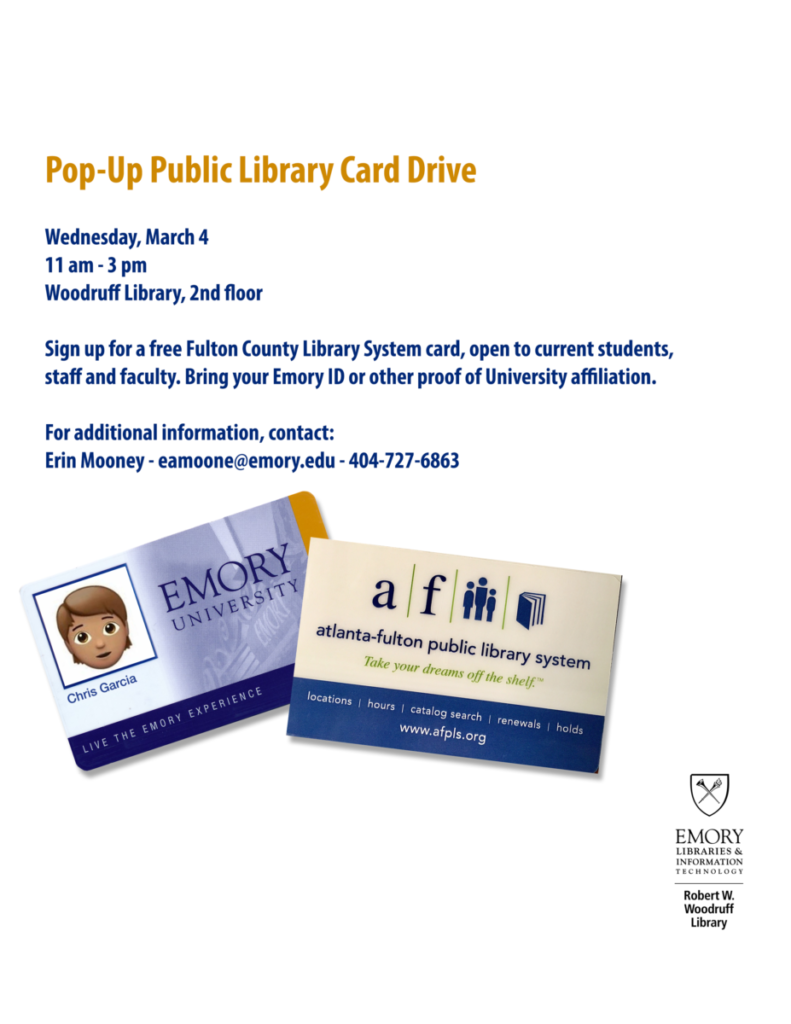 Fulton County Library Card