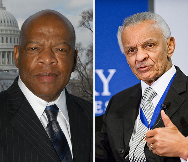 John Lewis (left) and C.T. Vivian.