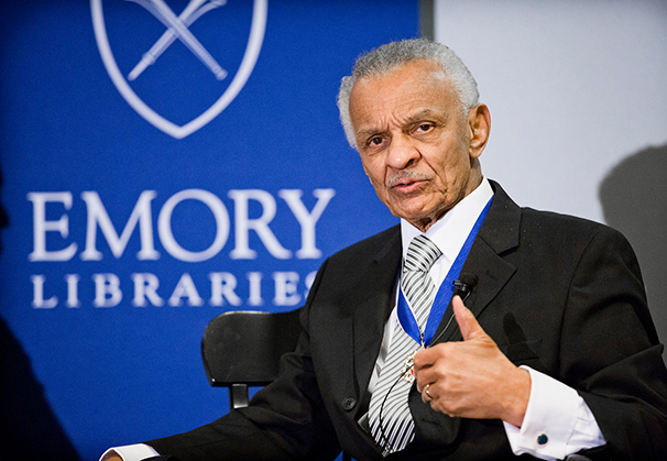 Rev. C.T. Vivian during his 2013 conversation at Emory's Woodruff Library.