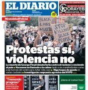 Front page of El Diario