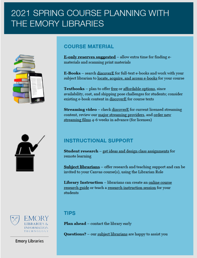 One-pager for ECAS faculty